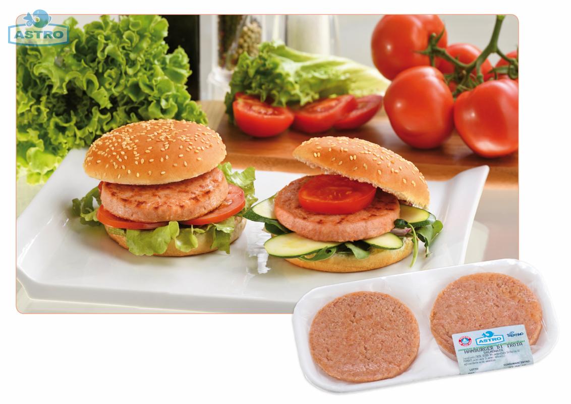 Hamburger di trota salmonata - Trote Astro