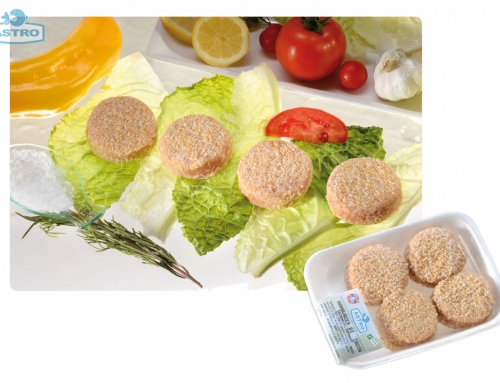 Minifishburger di trota salmonata panato