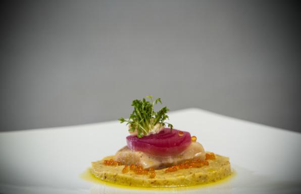 trota-in-carpione-polenta-morbida-e-crescione-di-ruscello-1-795x530